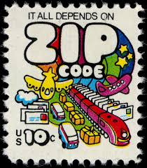 "1975 stamp - ""It all depends on Zip Code"". Zip Code API does that now."